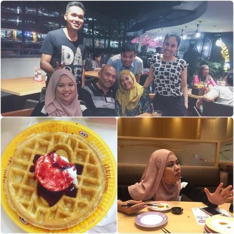 a&w, waffles, sushi king, sunway pyramid, tony roma's, citta mall, birthday