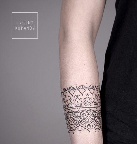 belas_linhas_de_contorno_de_pulso_banda_tatuagem