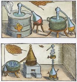 From Vannoccio Biringuccio Pirotechnia Venice 1540, Alchemical And Hermetic Emblems 2