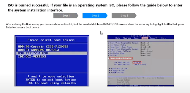 Select USB as a Boot Option