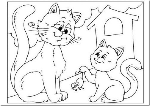 gatos colorear jugarycolorear (7)