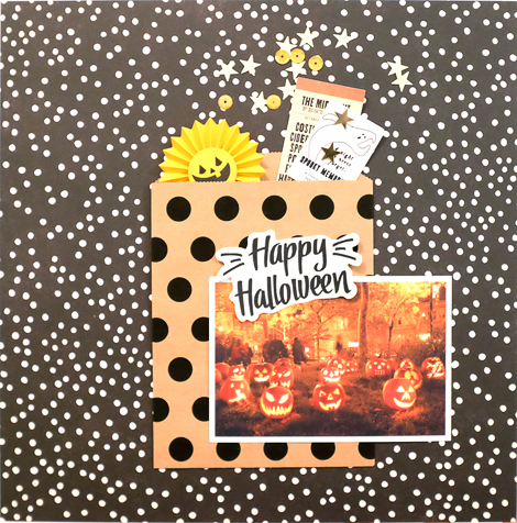 Maria Lacuesta - Layout - Crate Paper Design Team - Happy Halloween