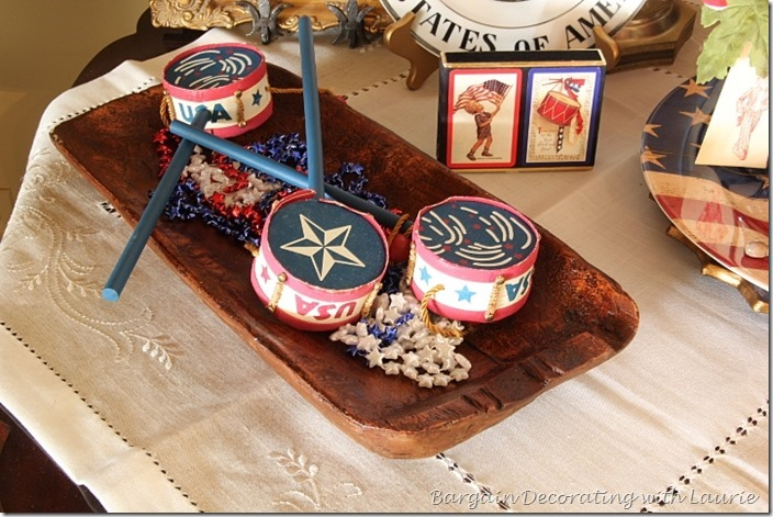 Red white and blue vignette