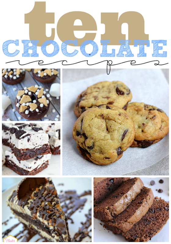 Ten Chocolate Recipes at GingerSnapCrafts.com #recipe #chocolate #gingersnapcrafts