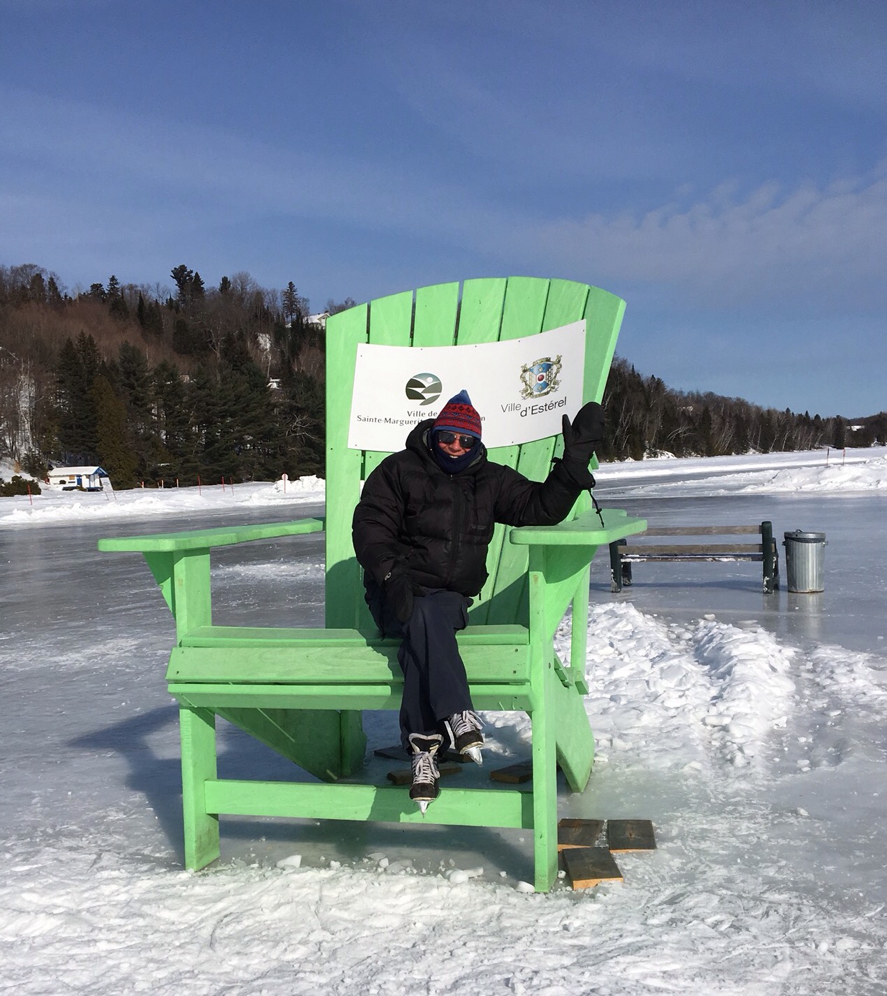 the big chair on Lac Masson