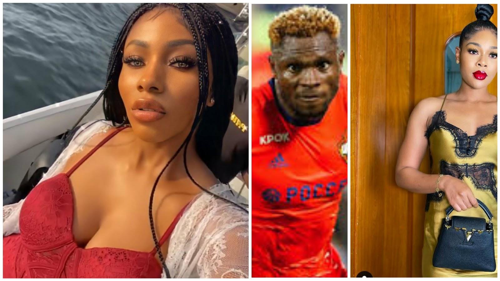 BREAKING: Nigerian footballer, Samuel Aaron cheats on wife with Mercy Eke