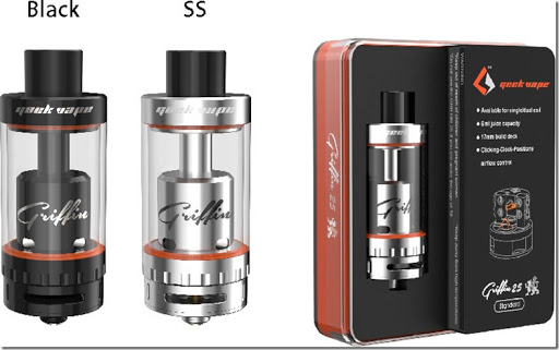 griffin 25 RTA standard version thum - 【RTA】GeekVape Griffin 25 Top Airflowレビュー。ミストもタンクも最大級!【爆煙】