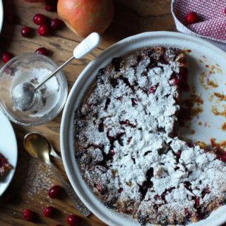 Cranberry Apple Cake (gluten free, dairy free, nut free, Paleo, vegan)