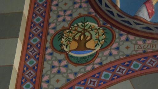 """Vale-se da imagem da árvore, cujo valor é reconhecido pelos frutos, que dá. Na inscrição em baixo: """"Arbor bona bonos fructus"""" (A árvore boa dá bons frutos) (Mt. 7, 17)."""