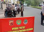 Kapolsek Cibeureum pimpin Operasi Yustisi depan Mako Polsek