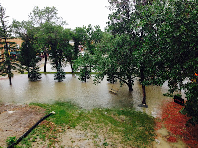 Excessive rainfall in Gravelbourg!