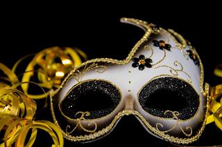 Mask-carnival - gold