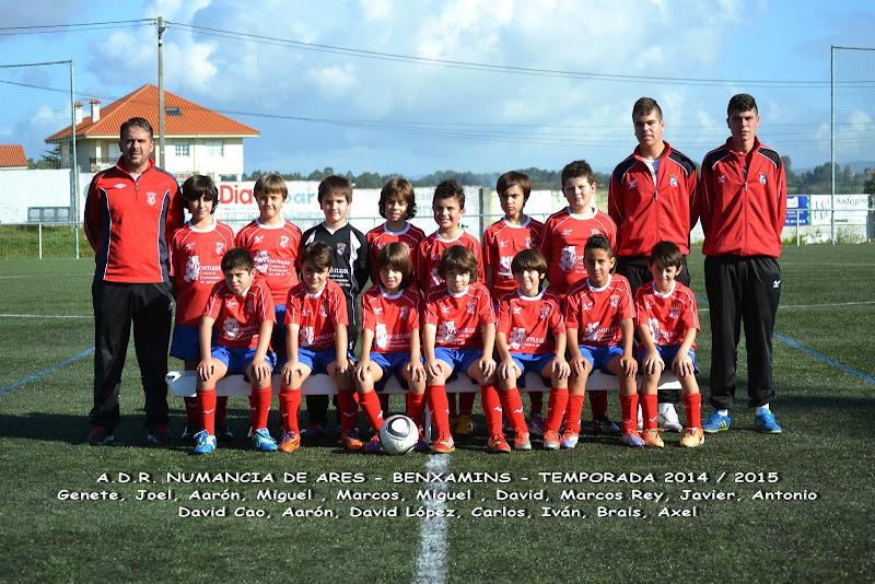 Numancia de Ares. Equipo Benxamíns. Temporada 2014-2015.