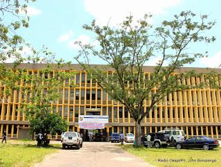 Vue du bâtiment abritant la faculté d'agronomie de l'université de Kinshasa(Unikin) le 23/03/2015 à Kinshasa. Radio Okapi/Ph. John Bompengo