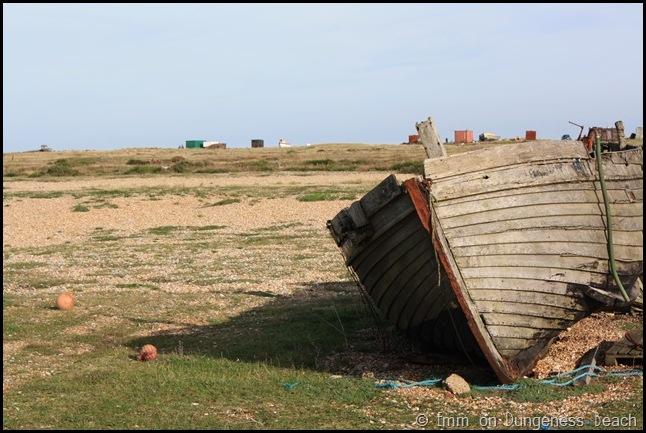 Ship wreck on dungeness beach