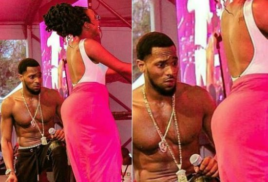 D'banj Pictured Staring Profusely At A Woman's Behind On Stage