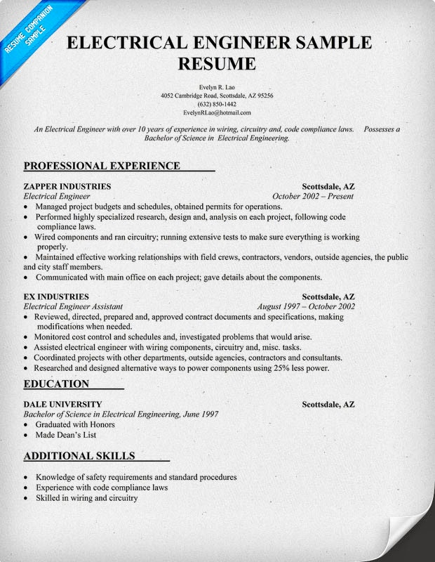 Electrician Resume Examples Curriculum Vitae Layout Design Resume Sample  Objectives For It With 93 Excellent Resume
