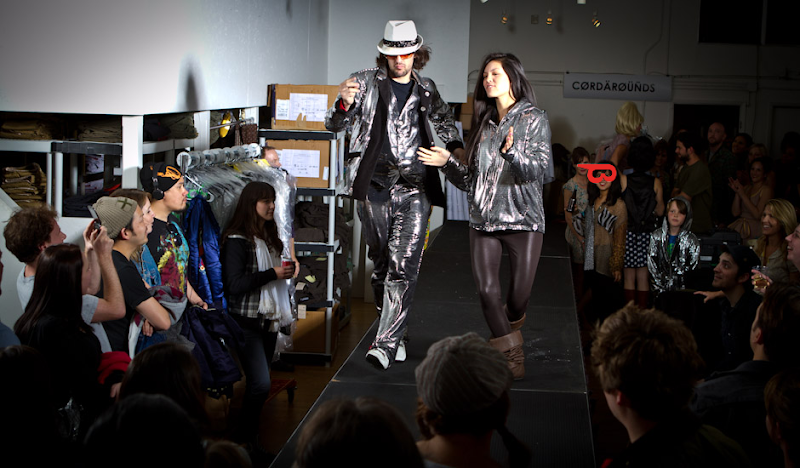 Disco Hoodies Turner on the Betabrand Catwalk