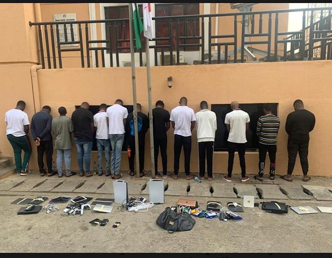 13 internet fraudsters arrested in Abuja
