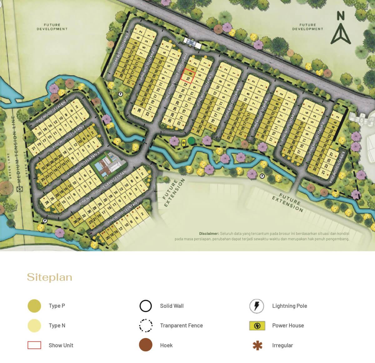 Siteplan Cluster Pinewood Residence