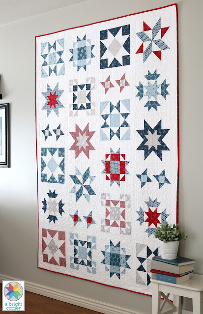 Clear Sky quilt pattern - a modern star sampler quilt pattern by Andy of A Bright Corner