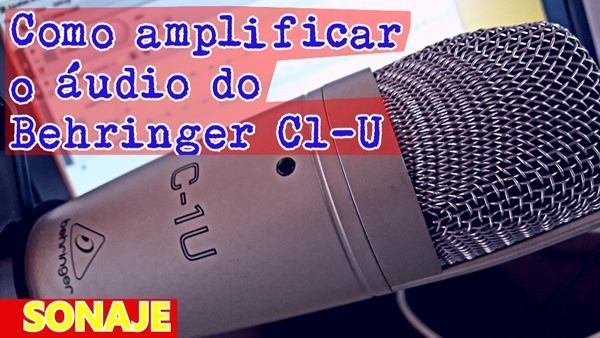 Como amplificar o audio do Behringer C1-U