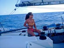 Brad Van Liew- Open 60 Le Pinguoin- sailing with Sasha