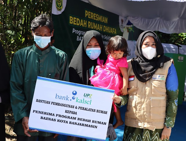 UPZ Bank Kalsel Bedah Rumah Dhuafa Bersama Baznas Banjarmasin