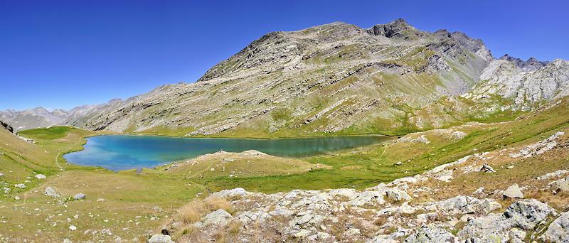 Traversée des Alpes, du lac Léman à la Méditerranée Gr5-briancon-mediterranee-lac-lauzanier-panorama