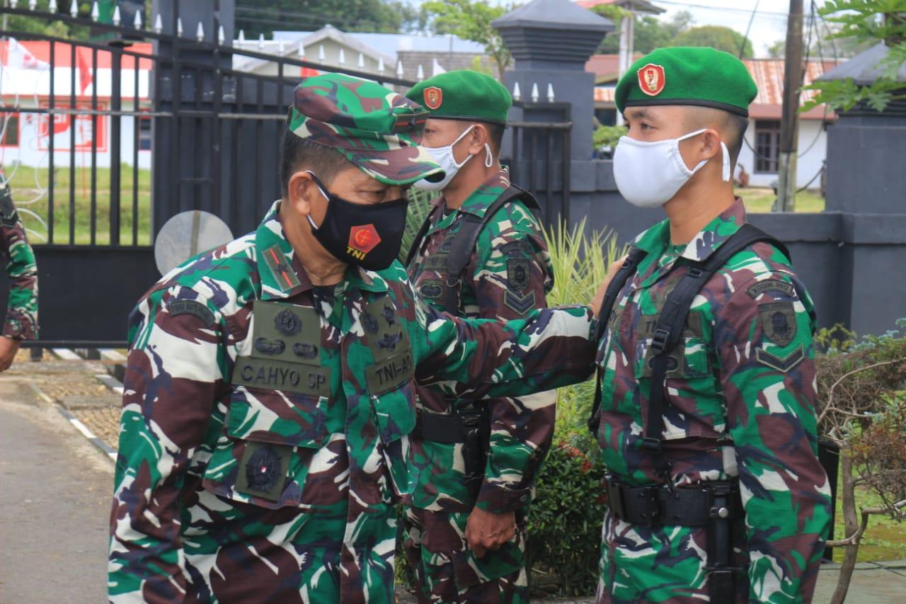 Kunjungi Kodim 0912/Kutai Barat, Danrem 091/ASN Beri Support Kepada Prajuritnya