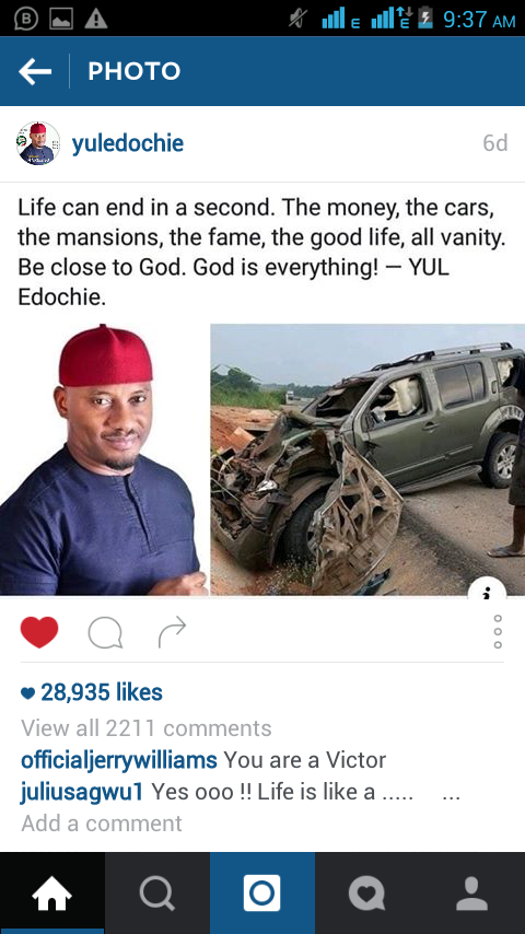 Yul Edochie Turns To Preacher After Accident