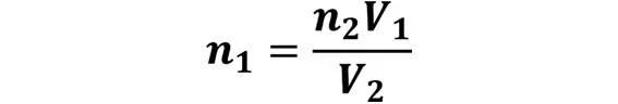 Las leyes de los gases: de boyle, de Charles, de Gay Lussac, de Avogadro y de Dalton - Despeje de la ley de Avogadro cuando se desconoce n1 pero se conoce n2, V1 y V2 - sdce.es - sitio de consulta escolar