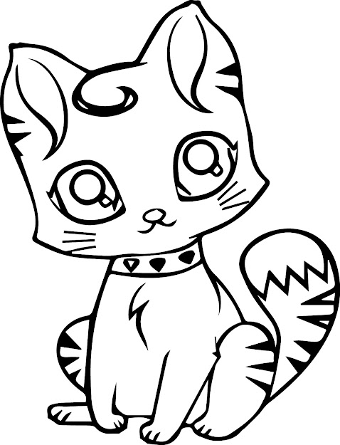 Cartoon Cat Coloring Pages  Cartoon Cat Coloring Page
