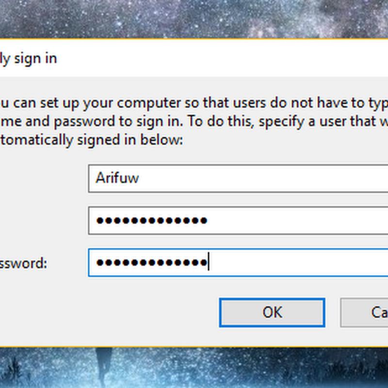 Cara login otomatis di Windows 10, 8, dan 7 tanpa password
