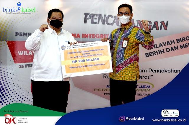 Dukung Program PEN, Bank Kalsel Terima Dana Rp200 Miliar
