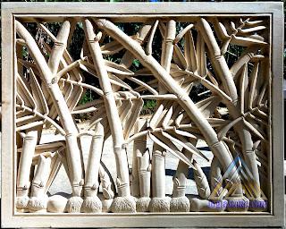 Roster bambu dari batu alam paras jogja atau batu paras putih