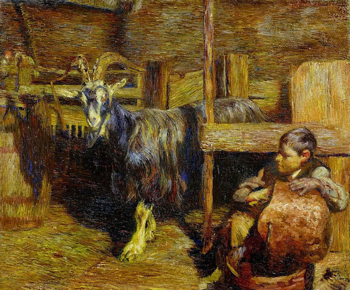Giovanni Giacometti - In the goat barn