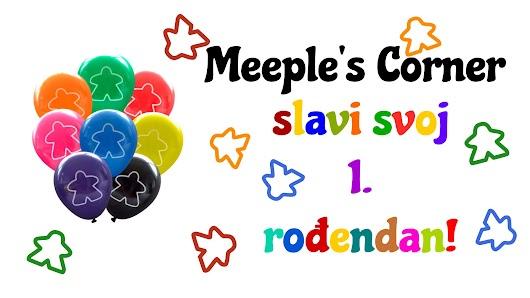 Meeple's Corner slavi 1. rođendan