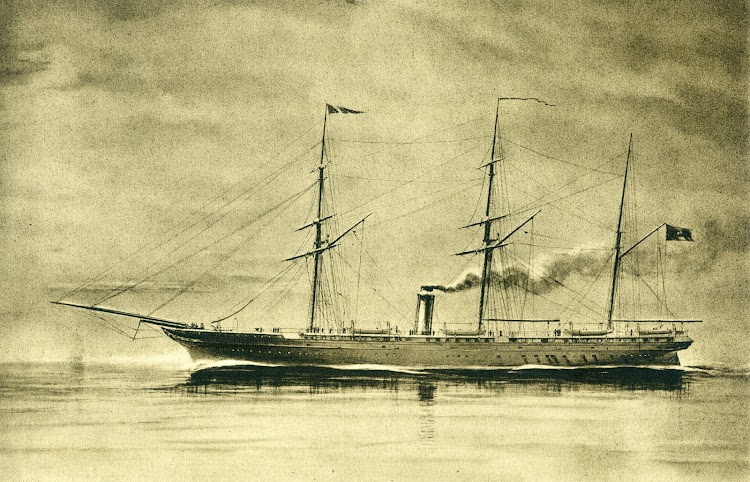 El vapor correo PRINCIPE ALFONSO que también mando D. Mariano de la Lastra y Aramberri. Del libro Cien Años de Vida sobre el Mar.JPG