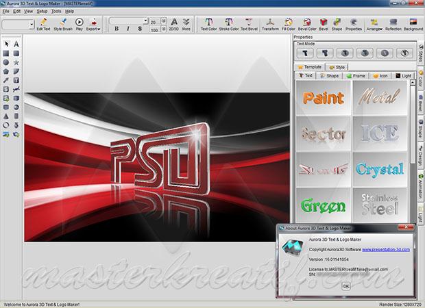Aurora 3D Text & Logo Maker