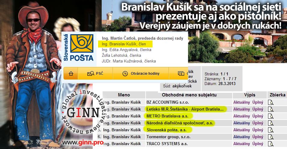 Branislav Kušík je člen dozornej rady štátnych podnikov