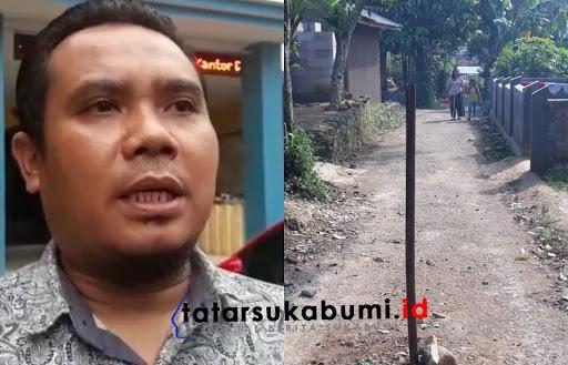 Klaim Hak Waris dan Tim Sukses Kalah, Jalan di Sukabumi di Patok Besi