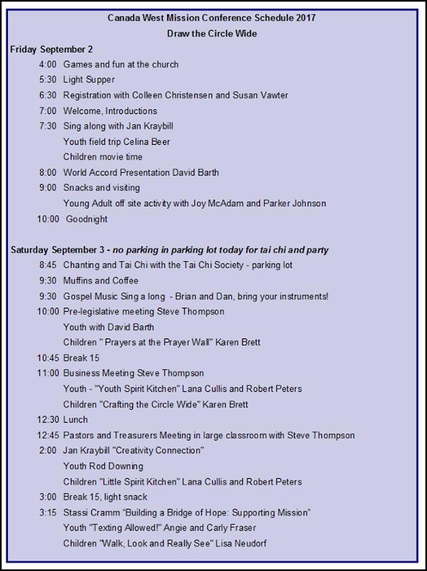 Schedule  p. 1