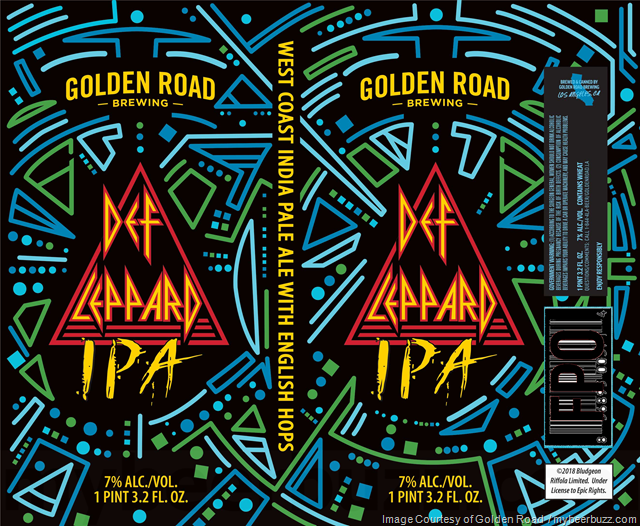 Golden Road & Def Leppard Collaborate On Def Leppard IPA 19.2oz Cans