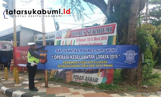 Operasi Keselamatan Lodaya 2019 Polres Sukabumi // Foto : Rapik Utama