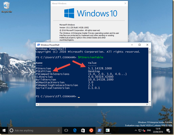 Under The Stairs: Windows 10 Build 14328 – Two Interesting ...