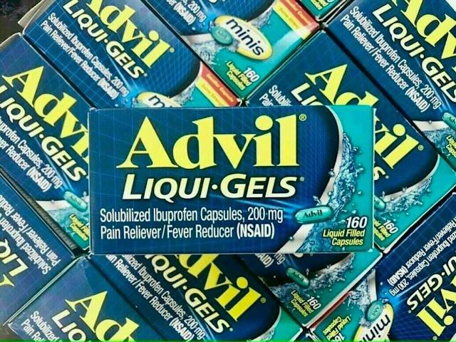 (Thuốc giảm đau, hạ sốt Advil Liqui Gels 200mg hộp 200 viên của Mỹ)
