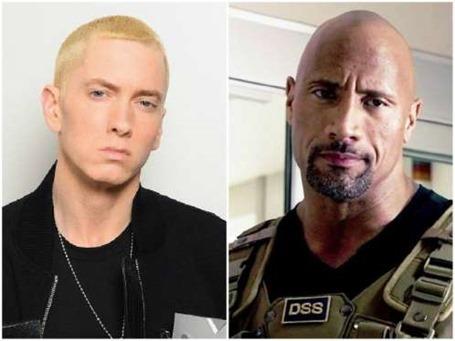 Eminem e Dwayne Johnson