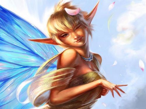Elf Angel In Clouds, Elven Girls