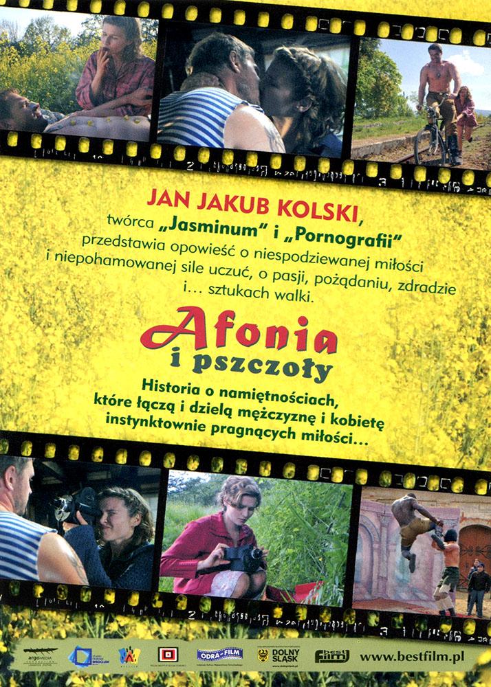 Ulotka filmu 'Afonia i Pszczoły (tył)'